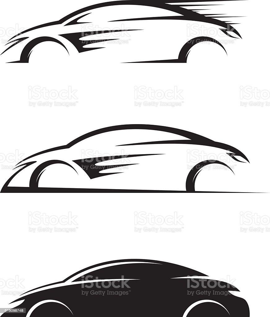 Car silhouette vector art illustration