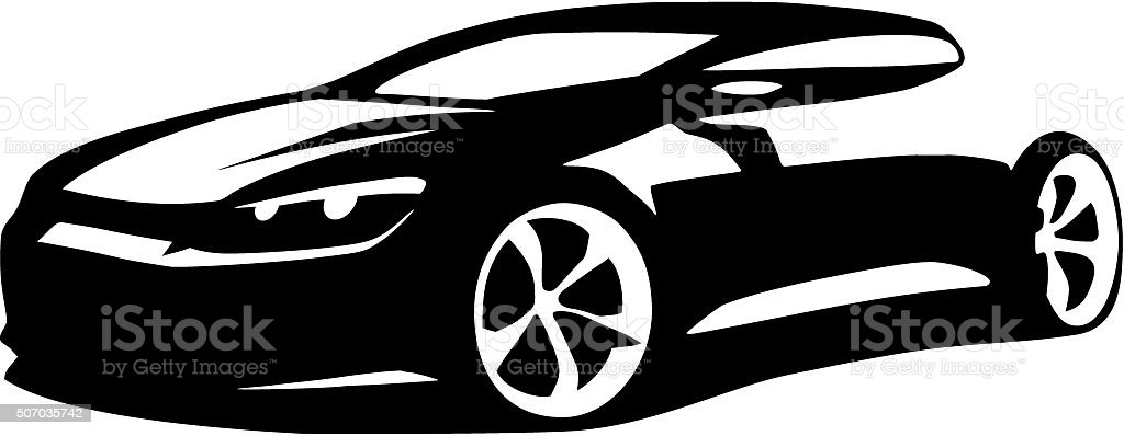Car silhouette vector vector art illustration