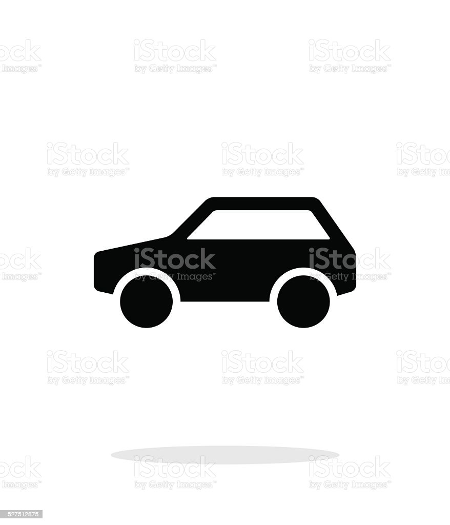 Car simple icon on white background. vector art illustration