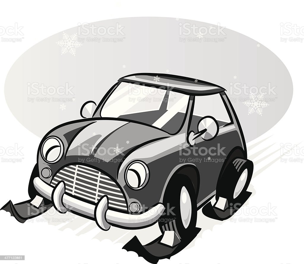 Car Skis royalty-free stock vector art