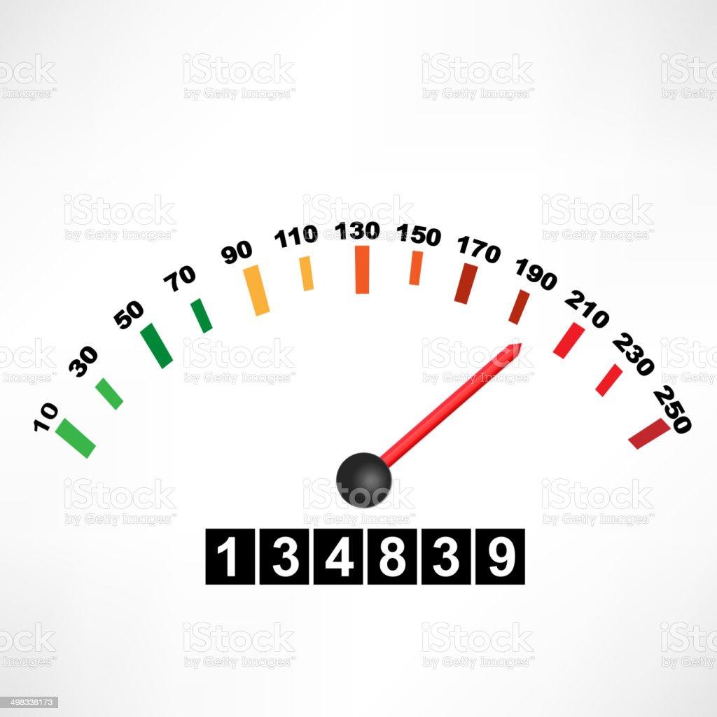 Car speedometer vector art illustration