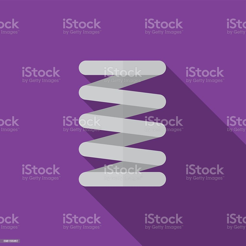 Car spring flat icon illustration vector art illustration