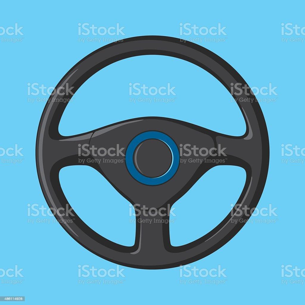 Car Steering Wheel vector art illustration