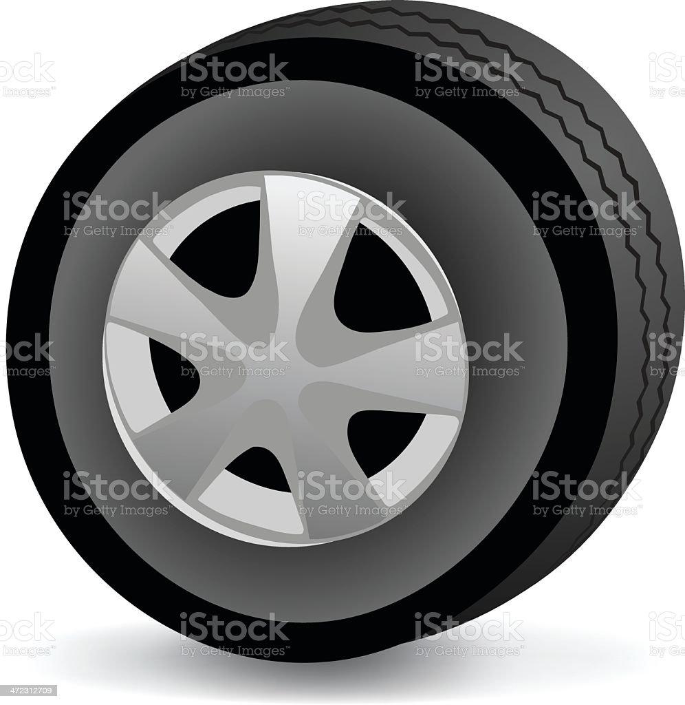 Car Tire royalty-free stock vector art