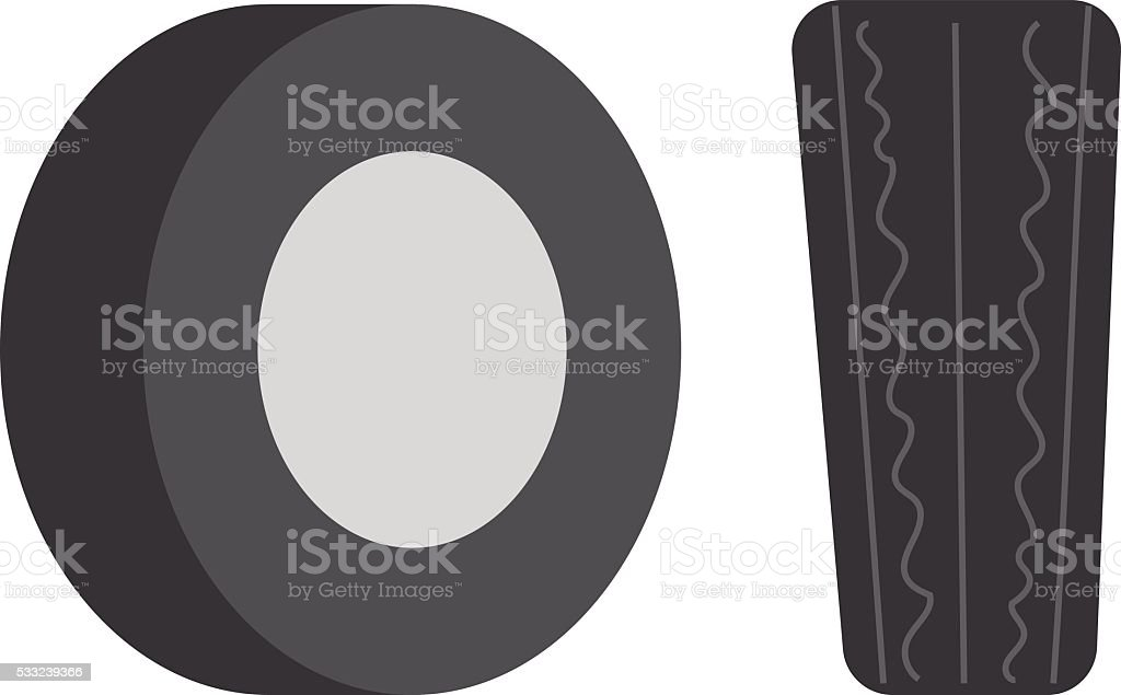 Car tire vector illustration vector art illustration