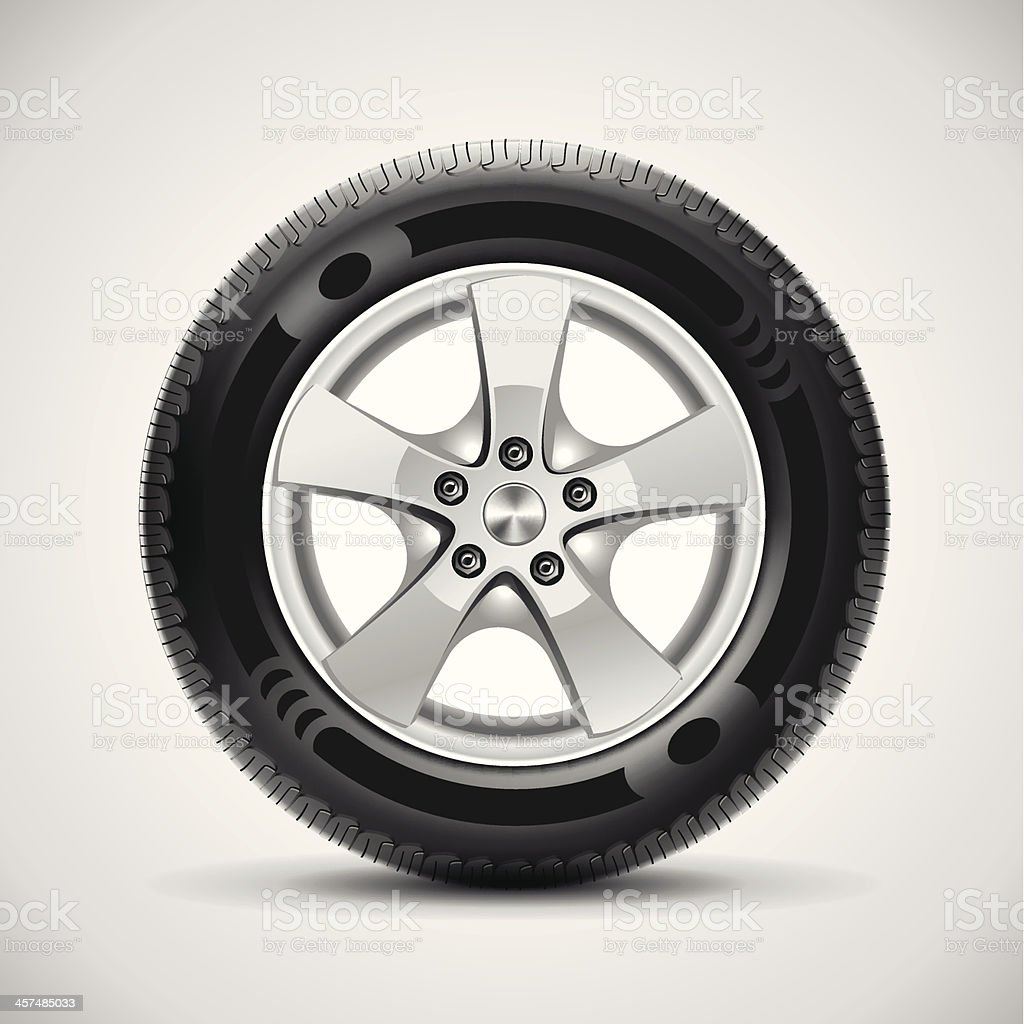 car tire, vector vector art illustration