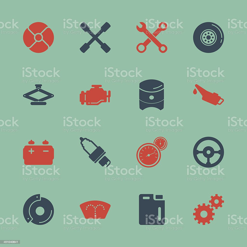 Car Tools Icons - Color Series | EPS10 royalty-free stock vector art