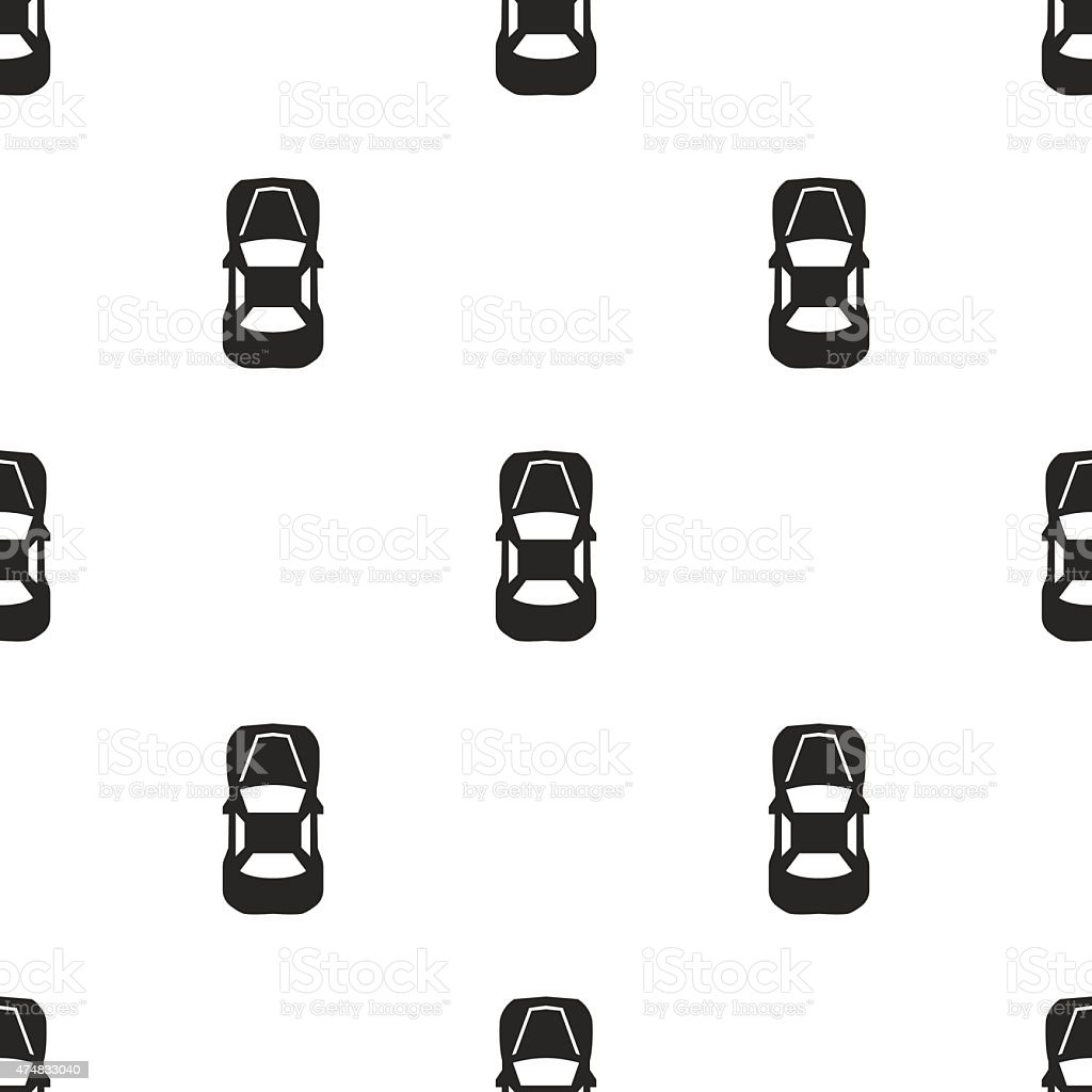 car top, vector seamless pattern vector art illustration