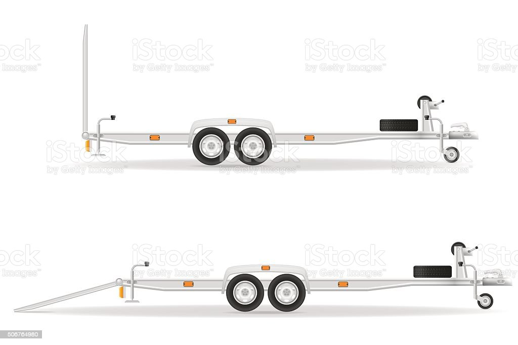 car trailer for transportation vehicles vector illustration vector art illustration