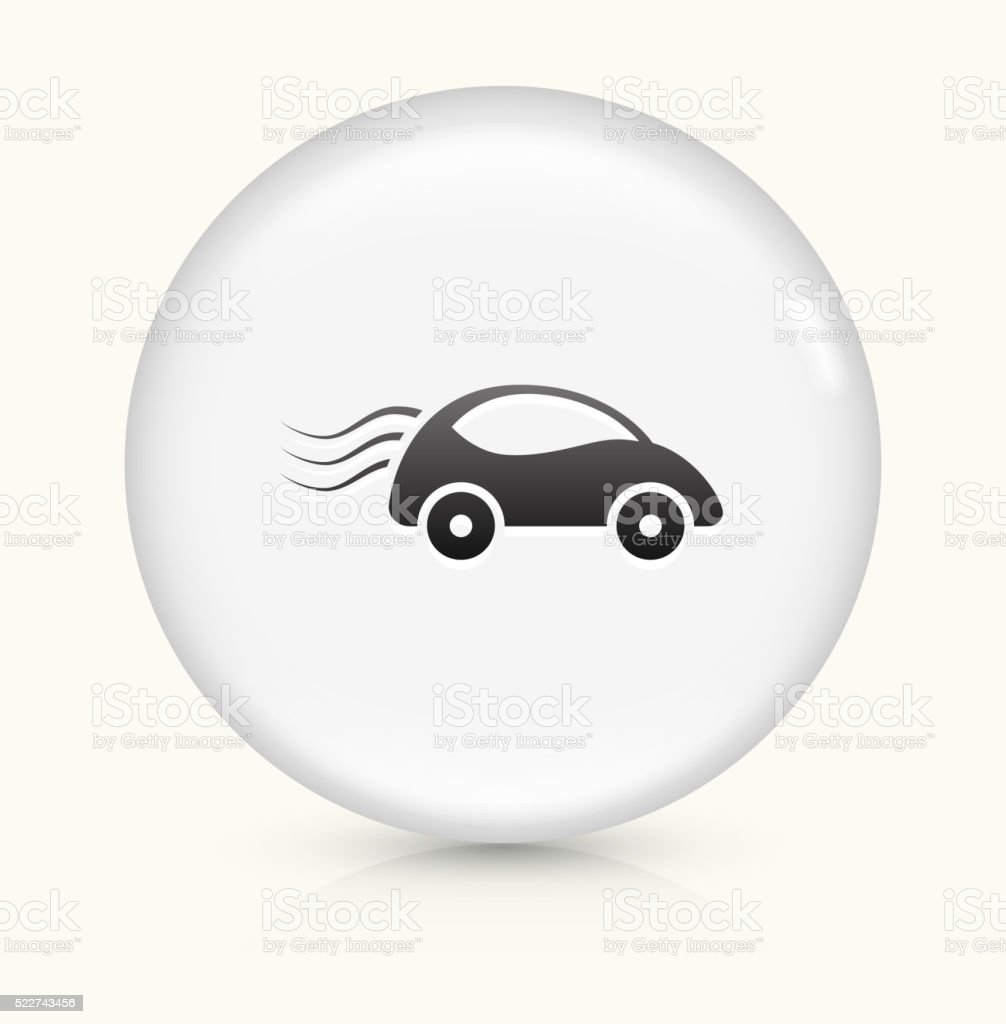 Car Travel icon on white round vector button vector art illustration