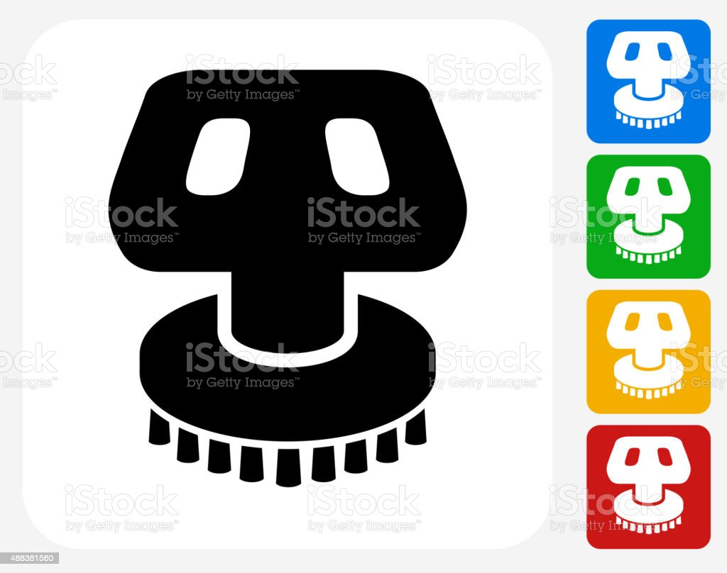 Car Wash Brush Icon Flat Graphic Design vector art illustration
