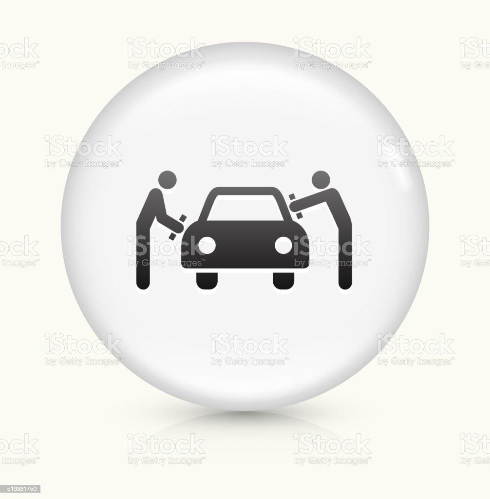 Car Wash icon on white round vector button vector art illustration