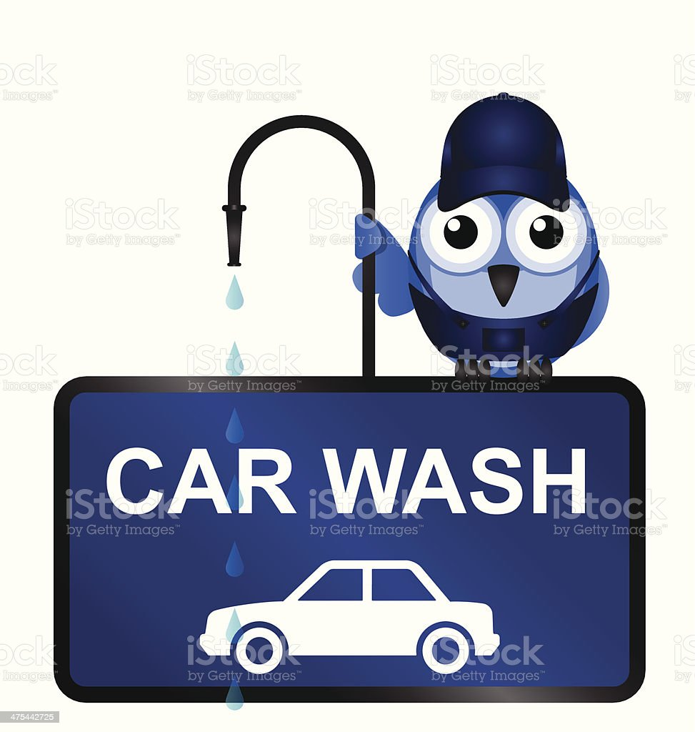 Car wash royalty-free stock vector art