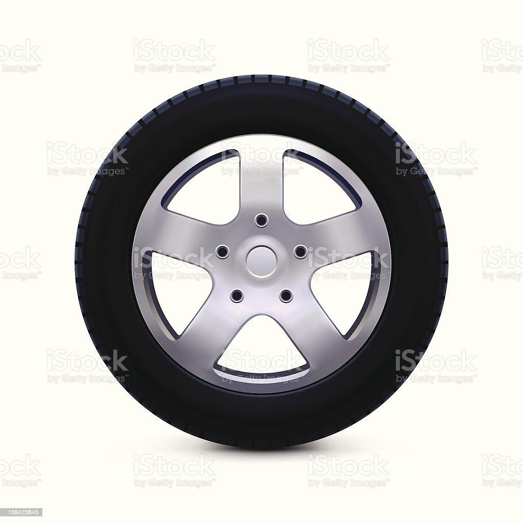 Car Wheel Icon vector art illustration