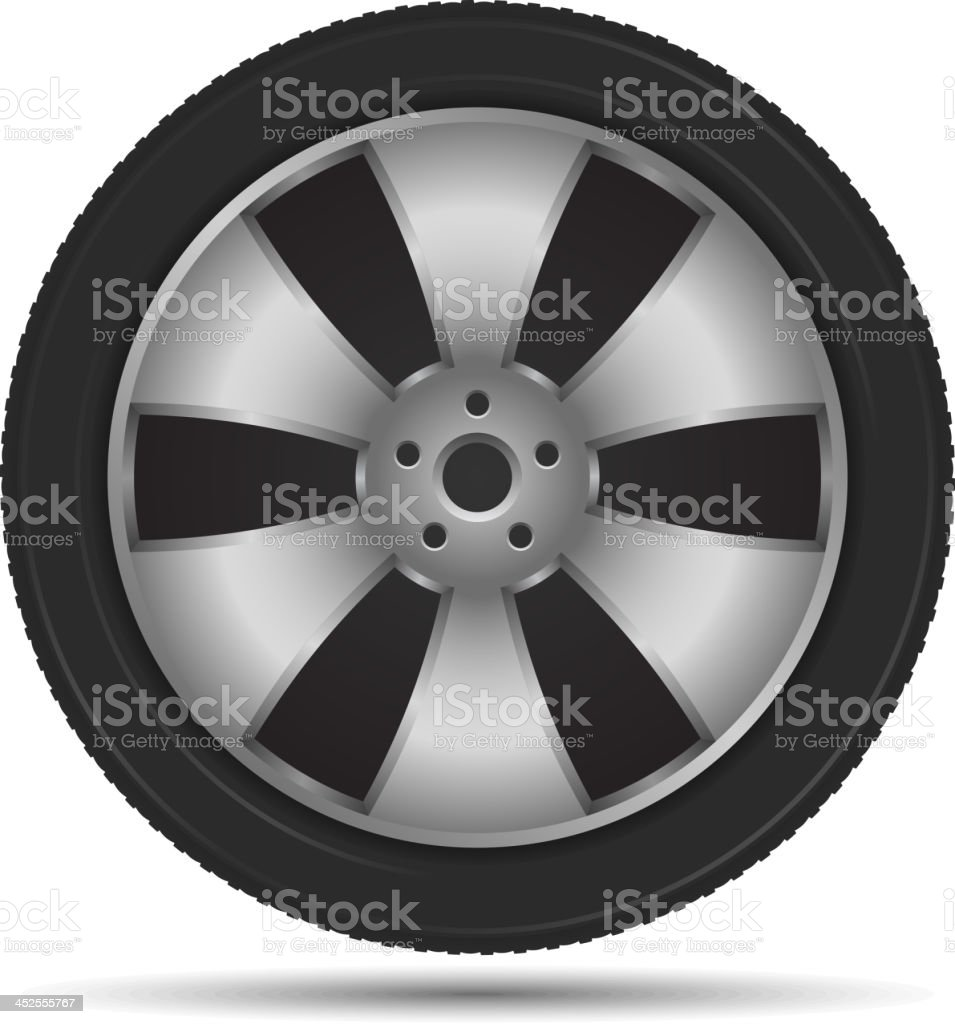 Car Wheel royalty-free stock vector art