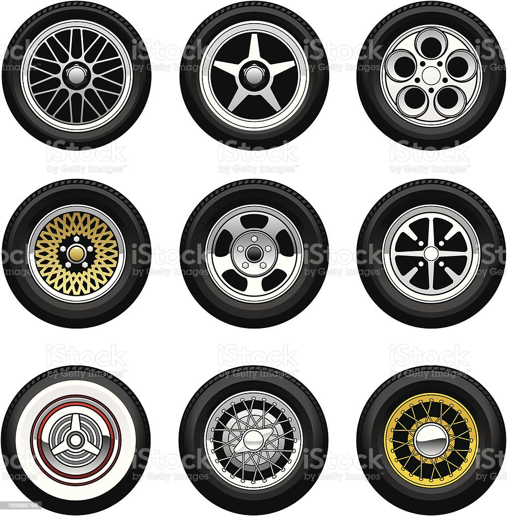 Car Wheels royalty-free stock vector art