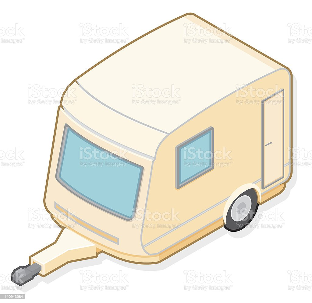 Caravan royalty-free stock vector art