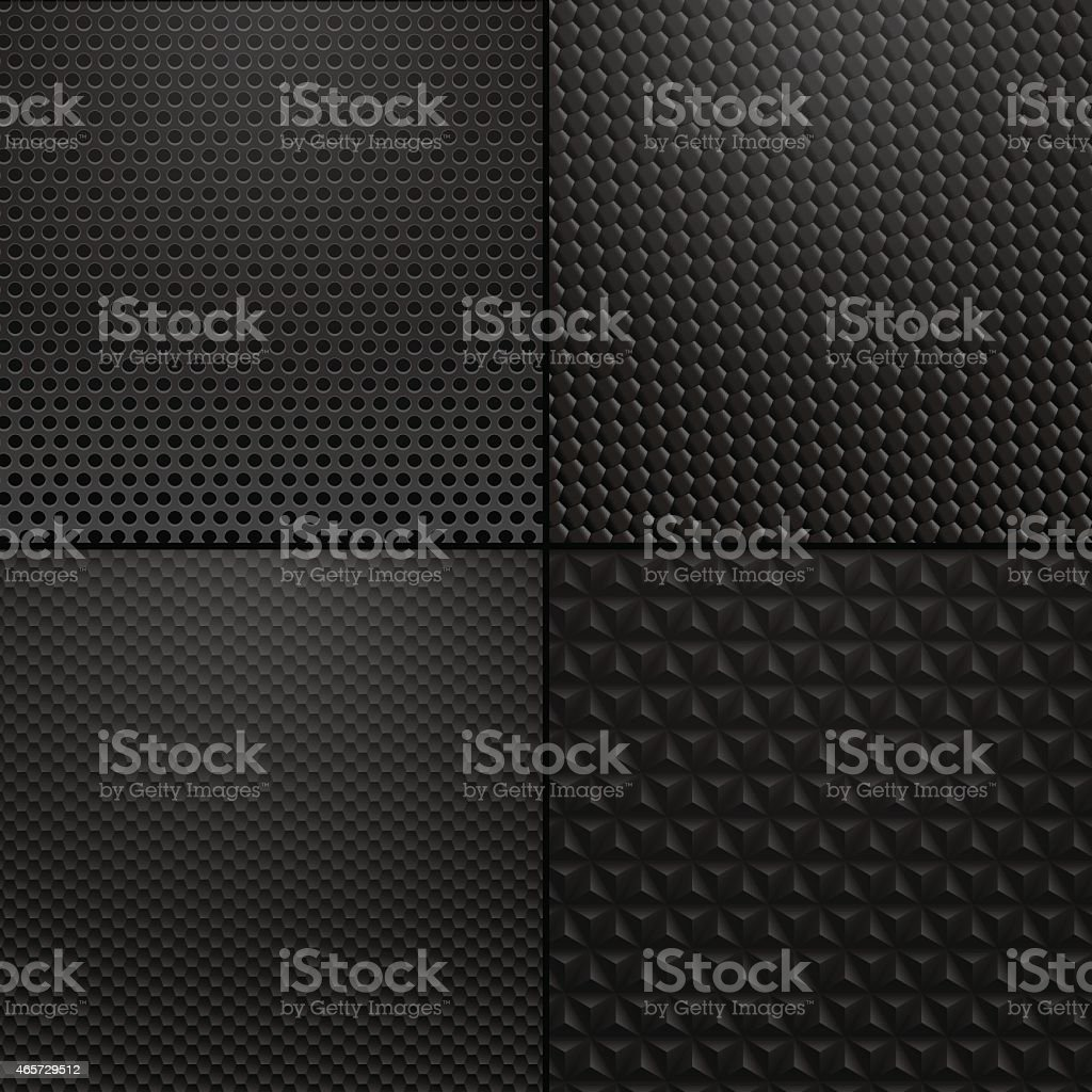 Carbon and Metallic texture - background illustration vector art illustration
