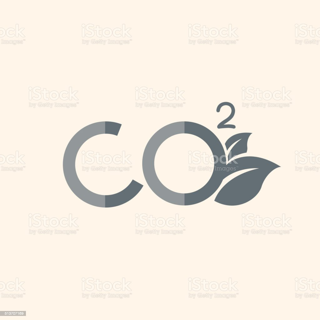 Carbon Dioxide Flat Icon vector art illustration