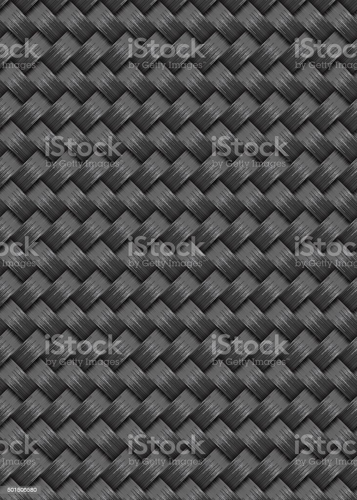 Carbon fiber background texture in a repeat pattern vector art illustration