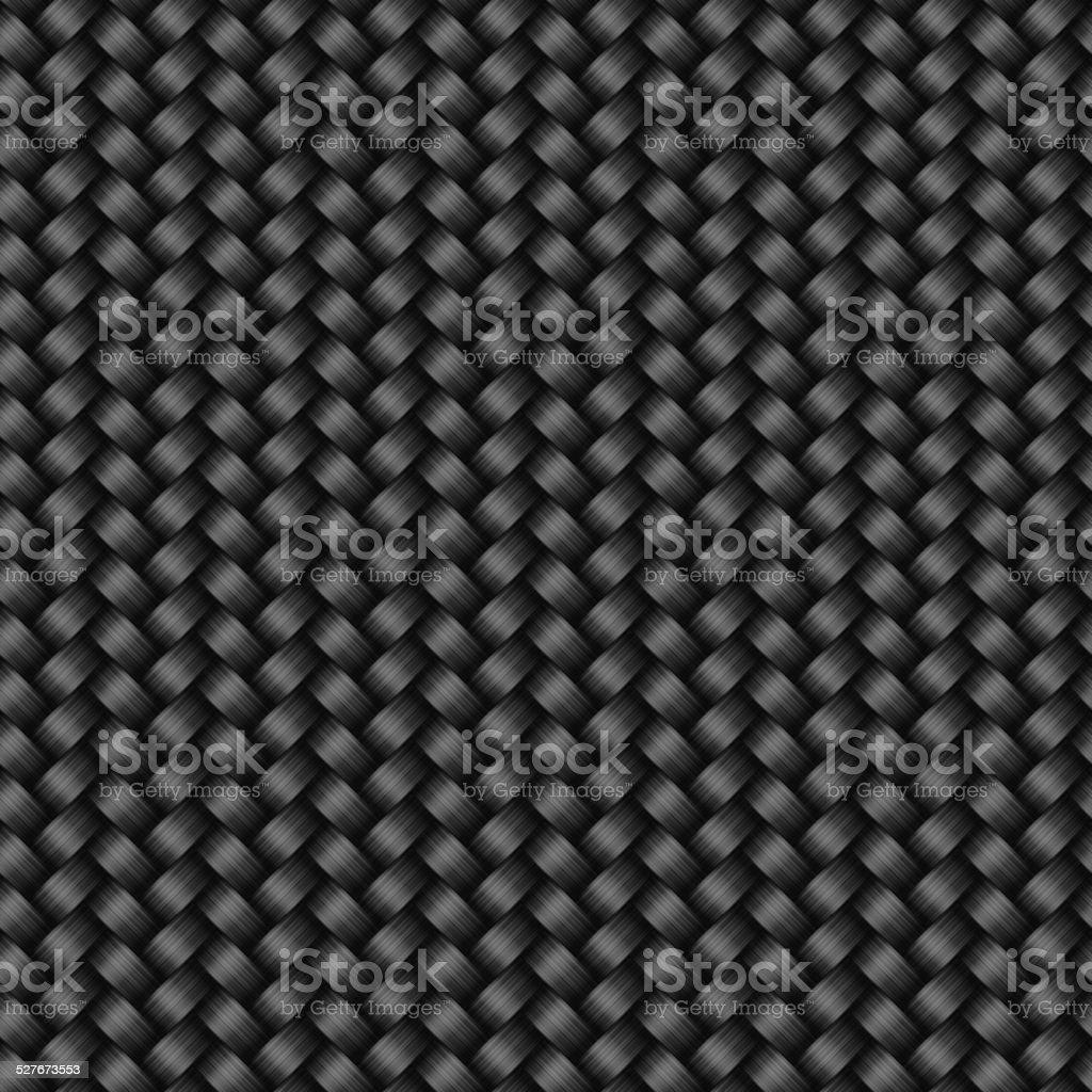 Carbon fiber texture seamless pattern vector art illustration