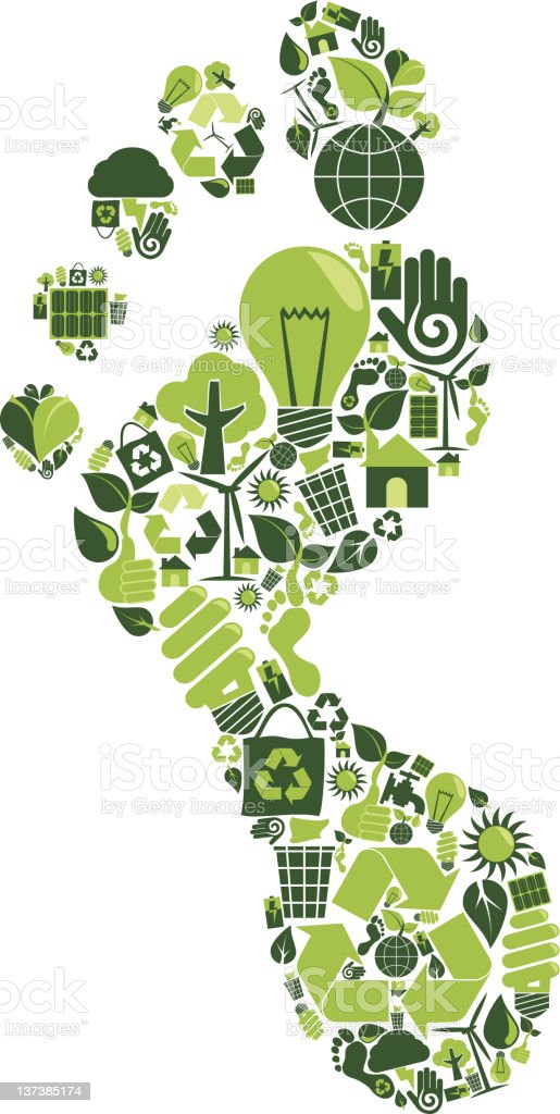 Carbon Footprint royalty-free stock vector art