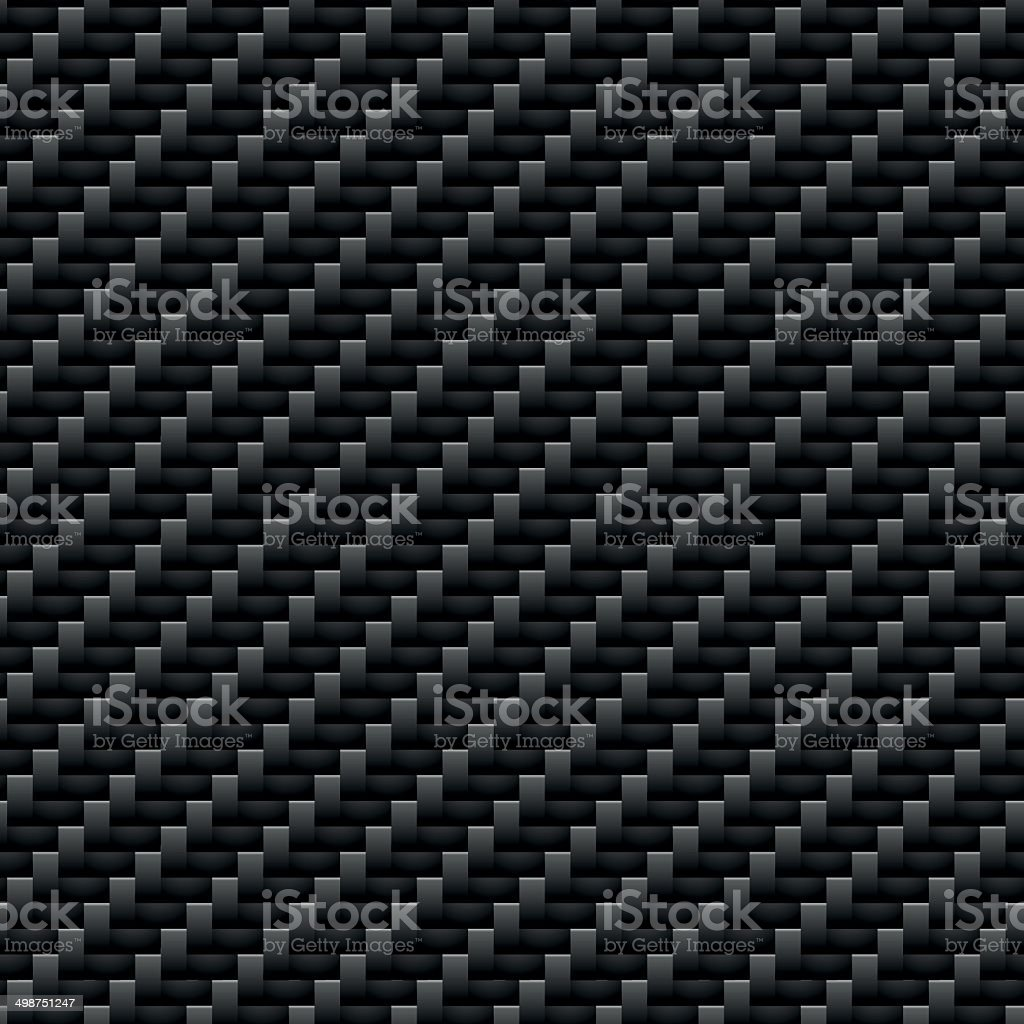Carbon Kevlar Black pattern vector art illustration