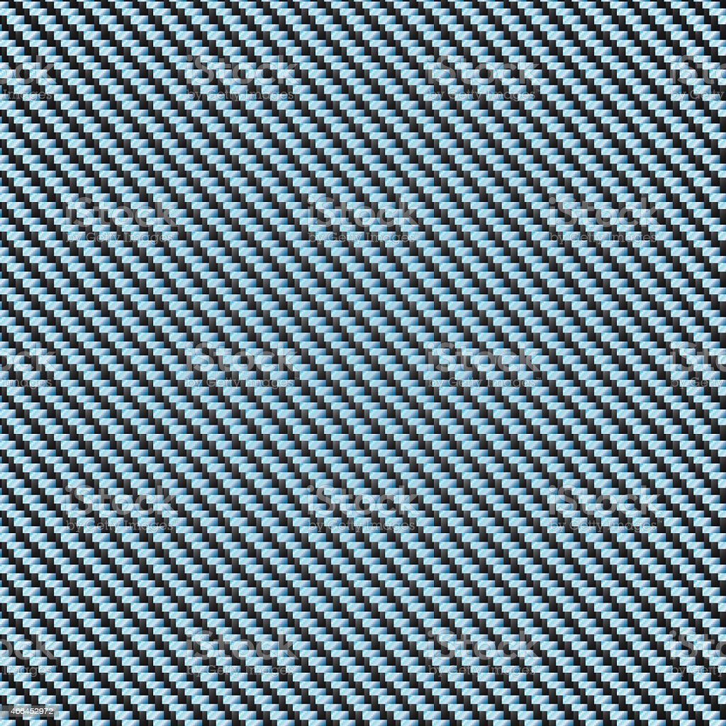 Carbon Kevlar blue vector art illustration