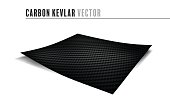 carbon kevlar material design paper fabric concept on white background