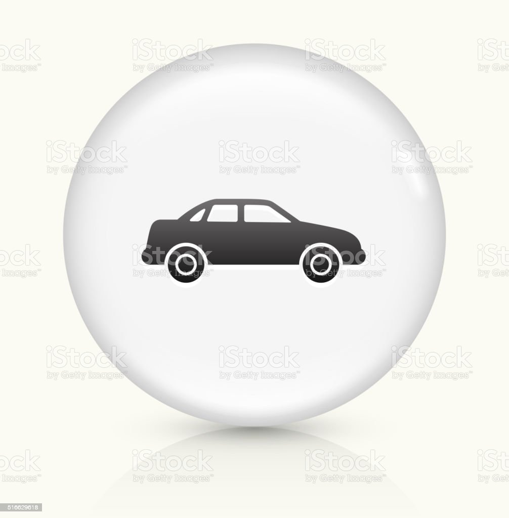 Carcass of the Car icon on white round vector button vector art illustration
