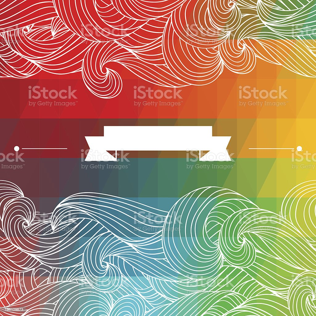 Card abstract geometric background. royalty-free stock vector art