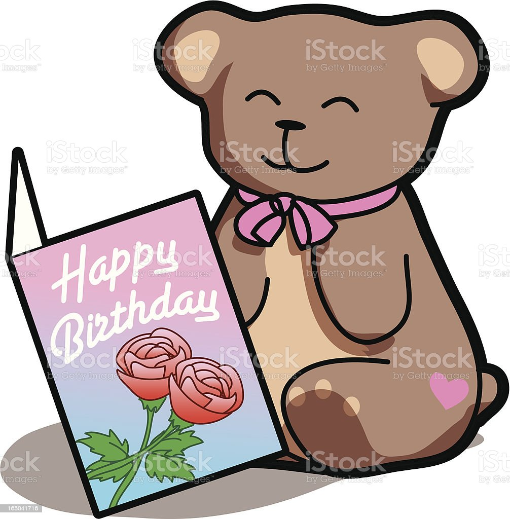 Card and Teddy Bear royalty-free stock vector art