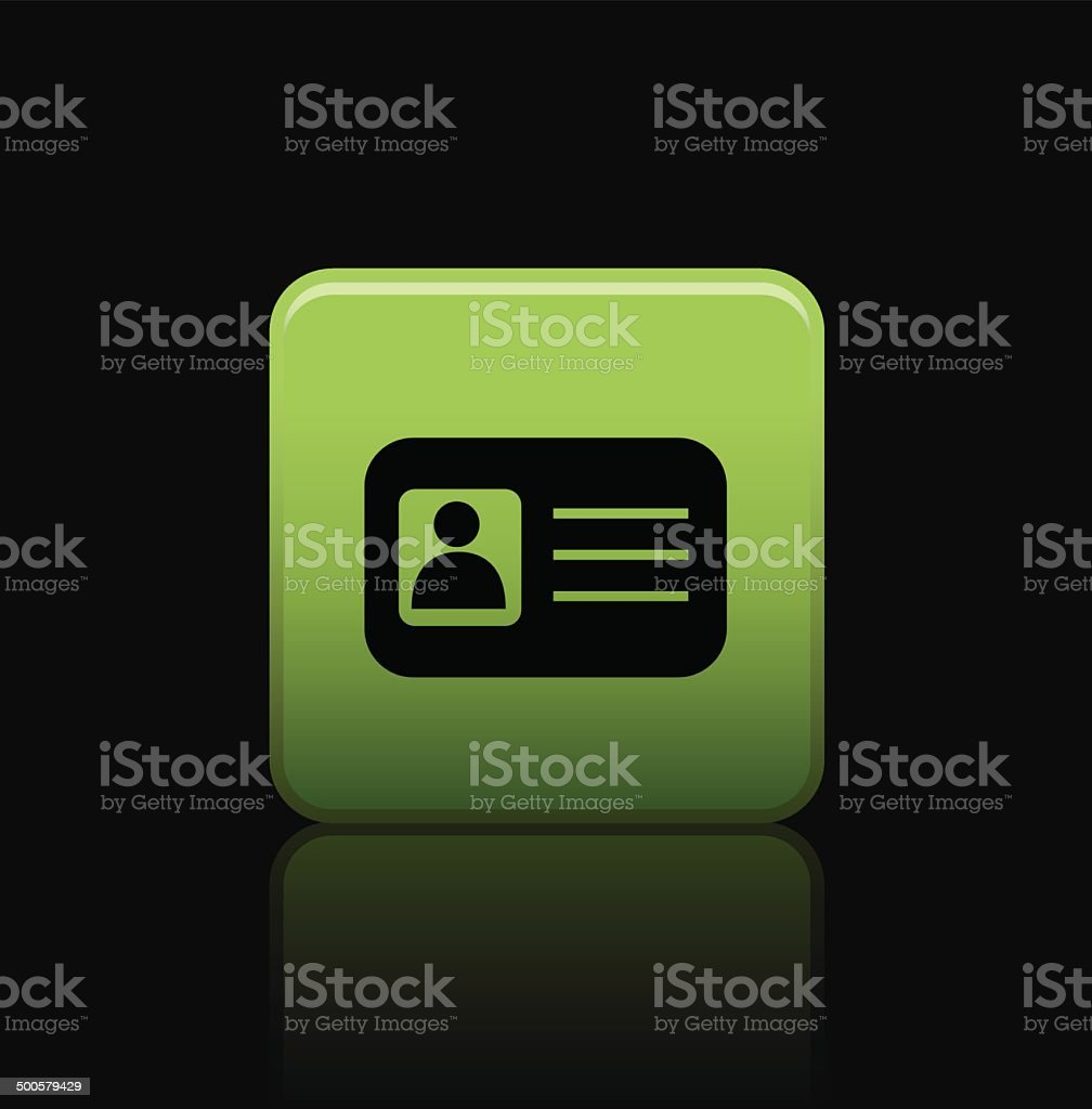 ID card button icon vector art illustration
