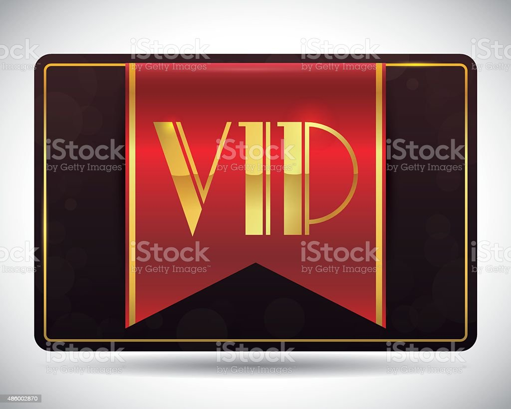 VIP card design. vector art illustration