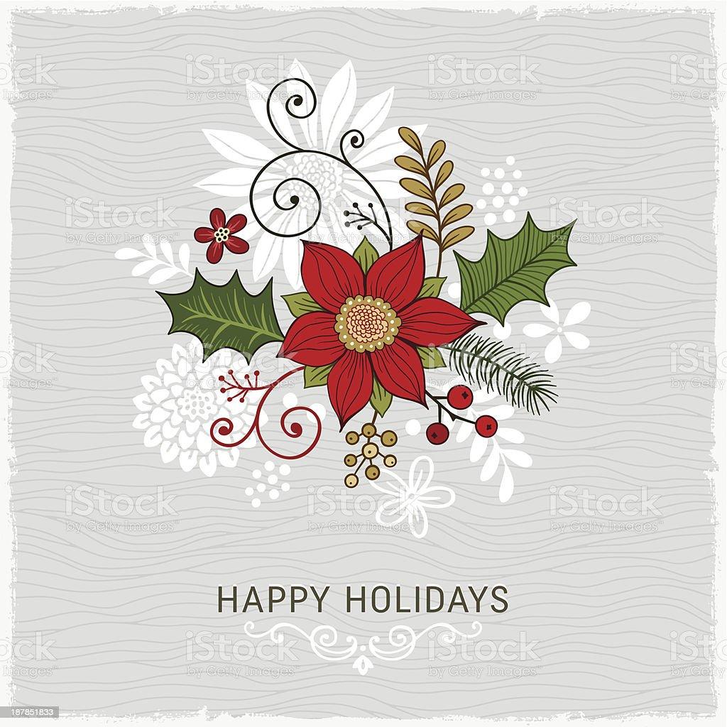 Card design wishing a happy holidays vector art illustration