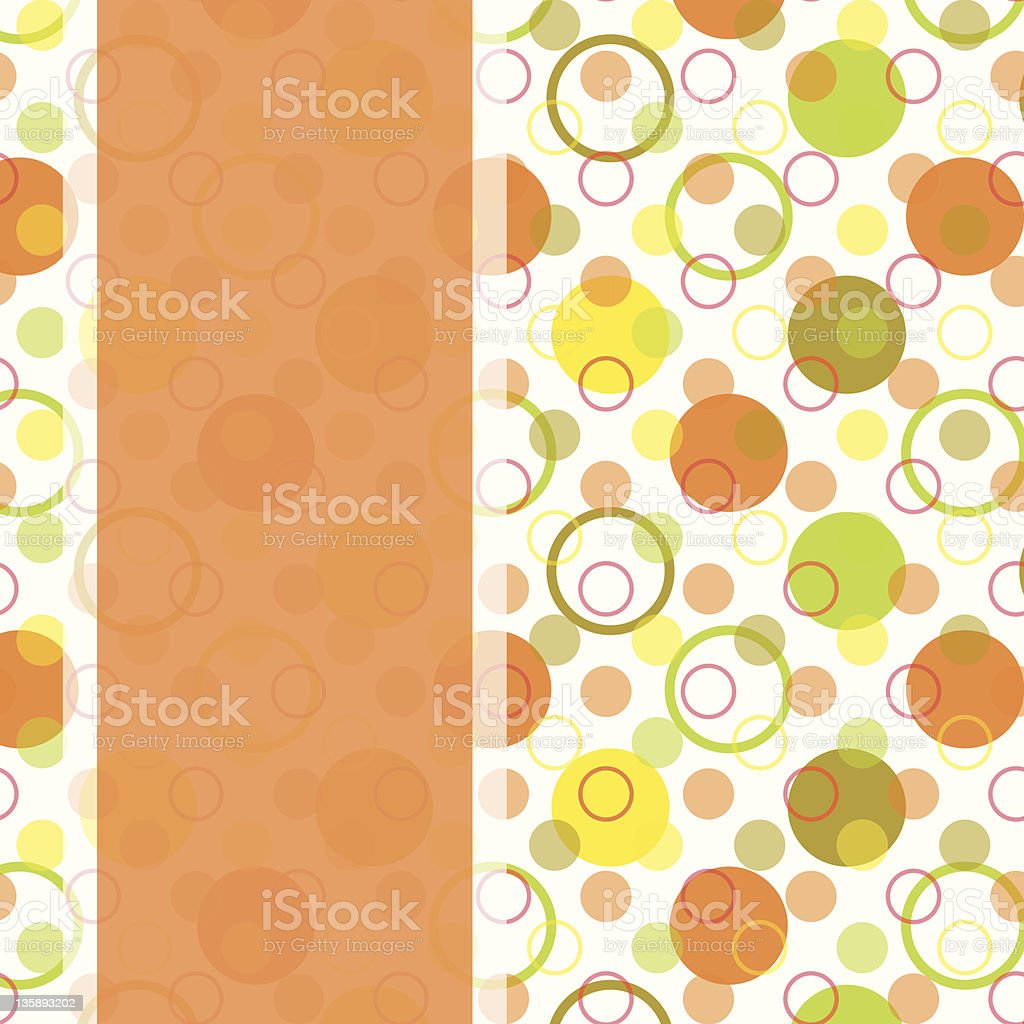 card design with colorful polka dot royalty-free stock vector art