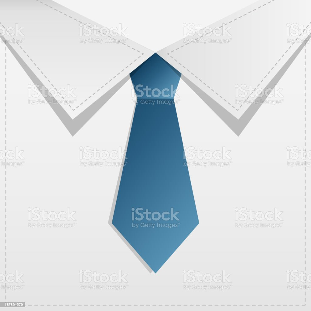 Card design  with tie. royalty-free stock vector art