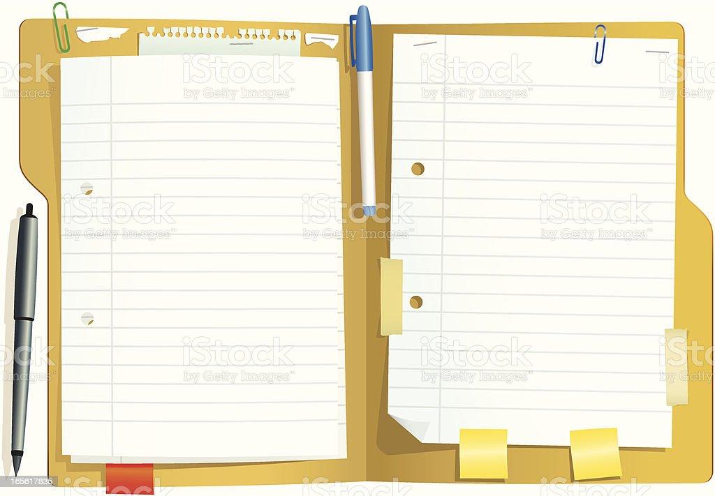 Card document folder vector art illustration
