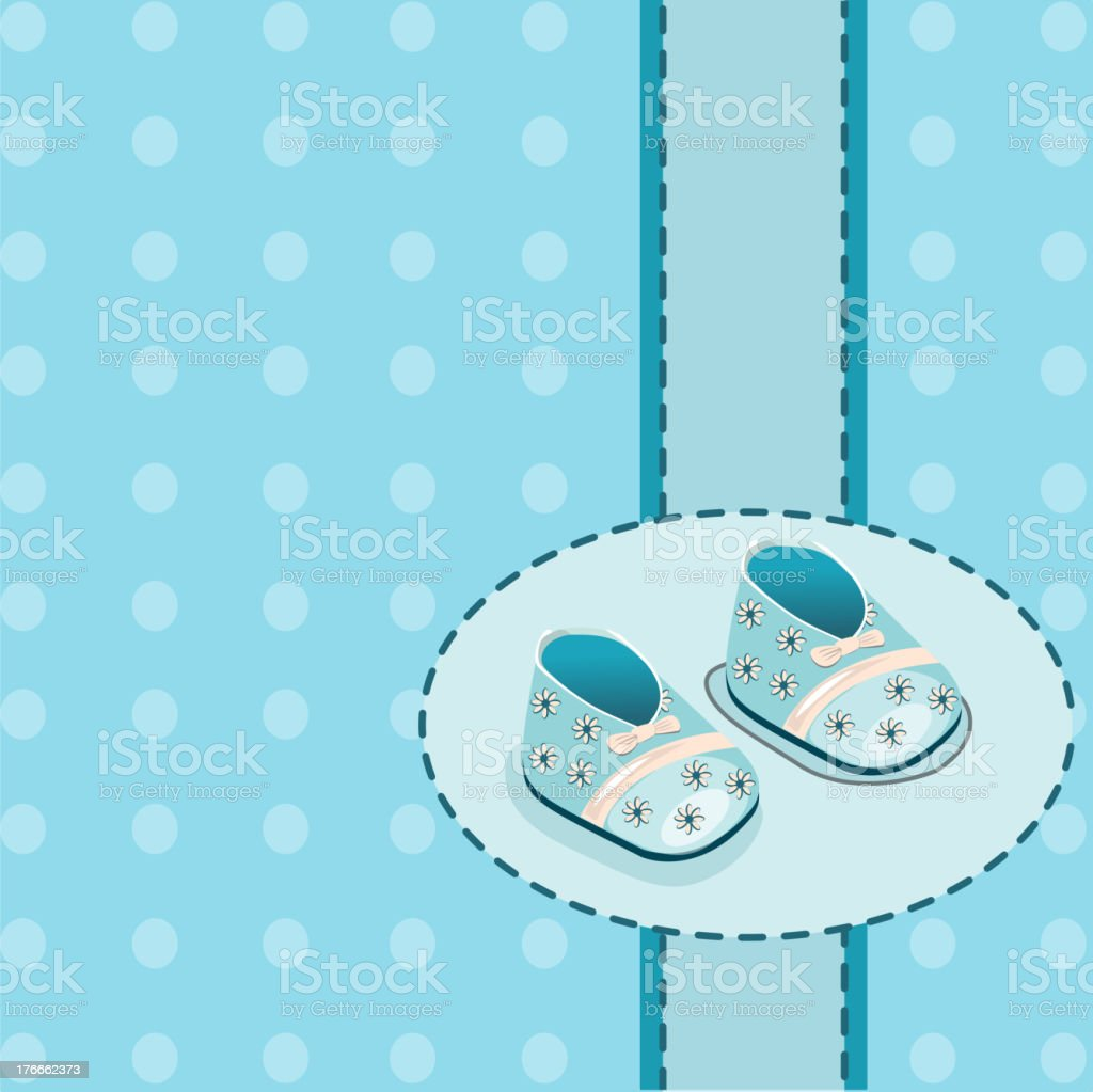 card for baby boy shoes vector royalty-free stock vector art