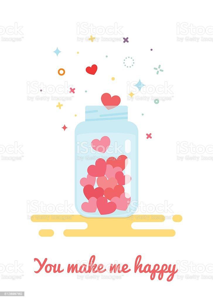 card for Valentine's Day vector art illustration