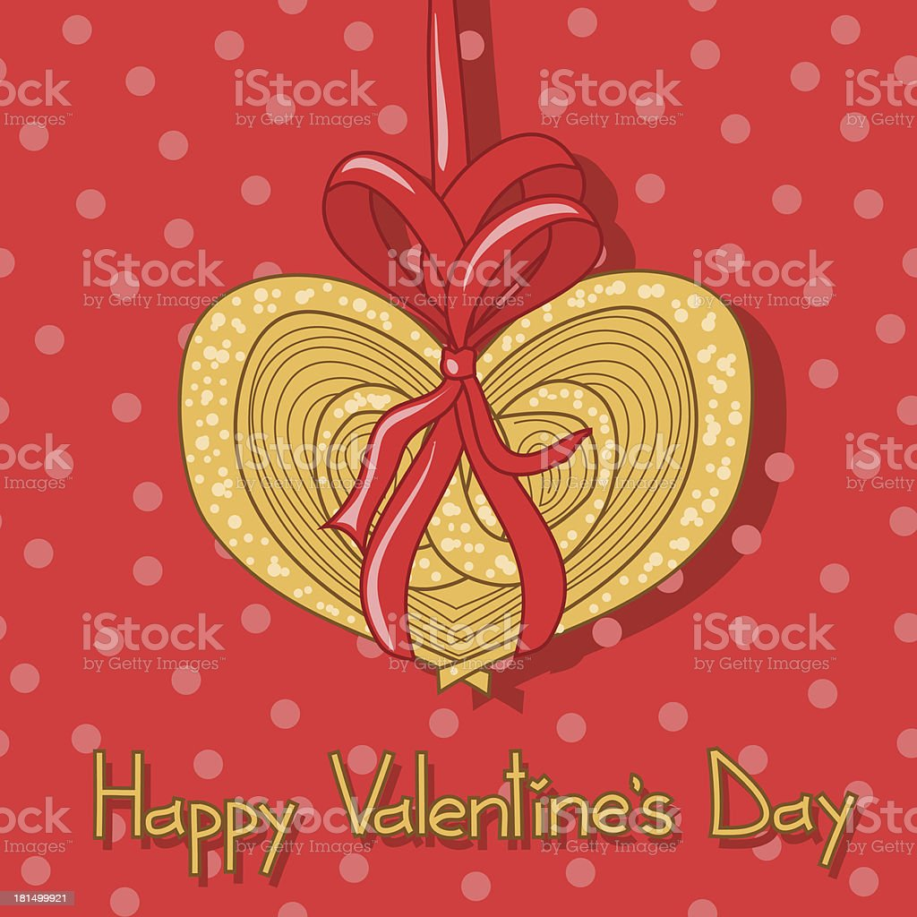 Card for Valentine's Day with cookie royalty-free stock vector art
