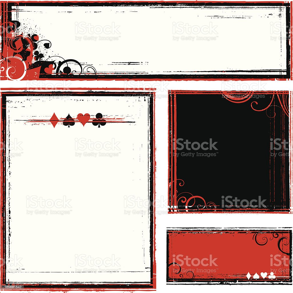 card frames royalty-free stock vector art
