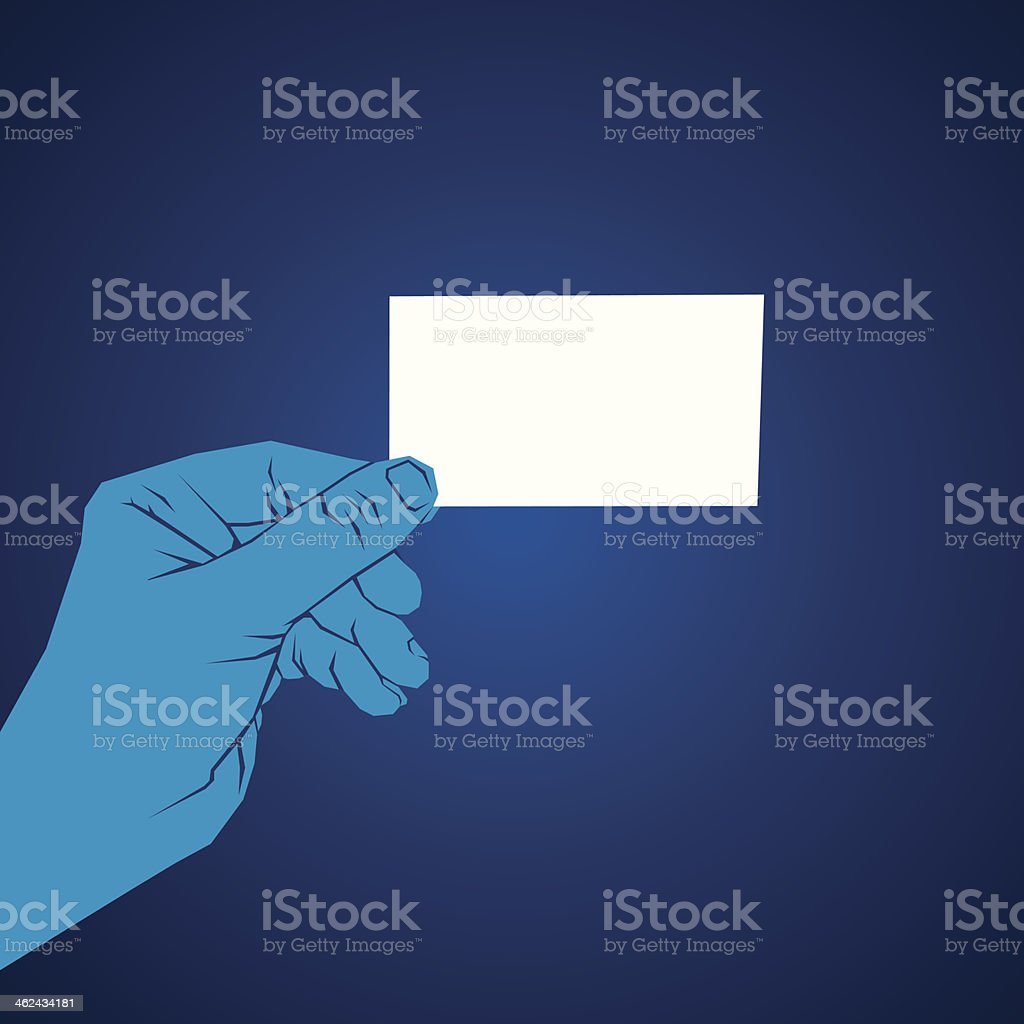card in hand royalty-free stock vector art