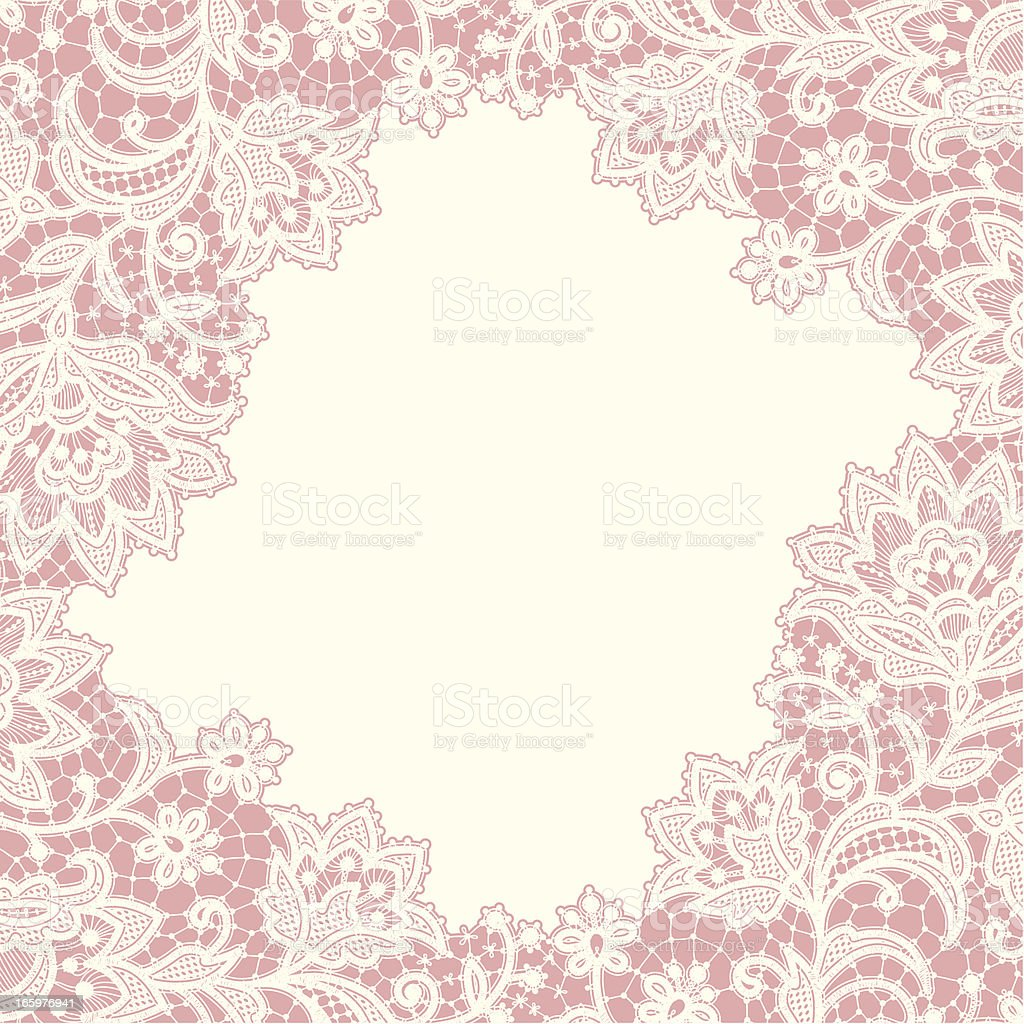 Card Lace Frame royalty-free stock vector art