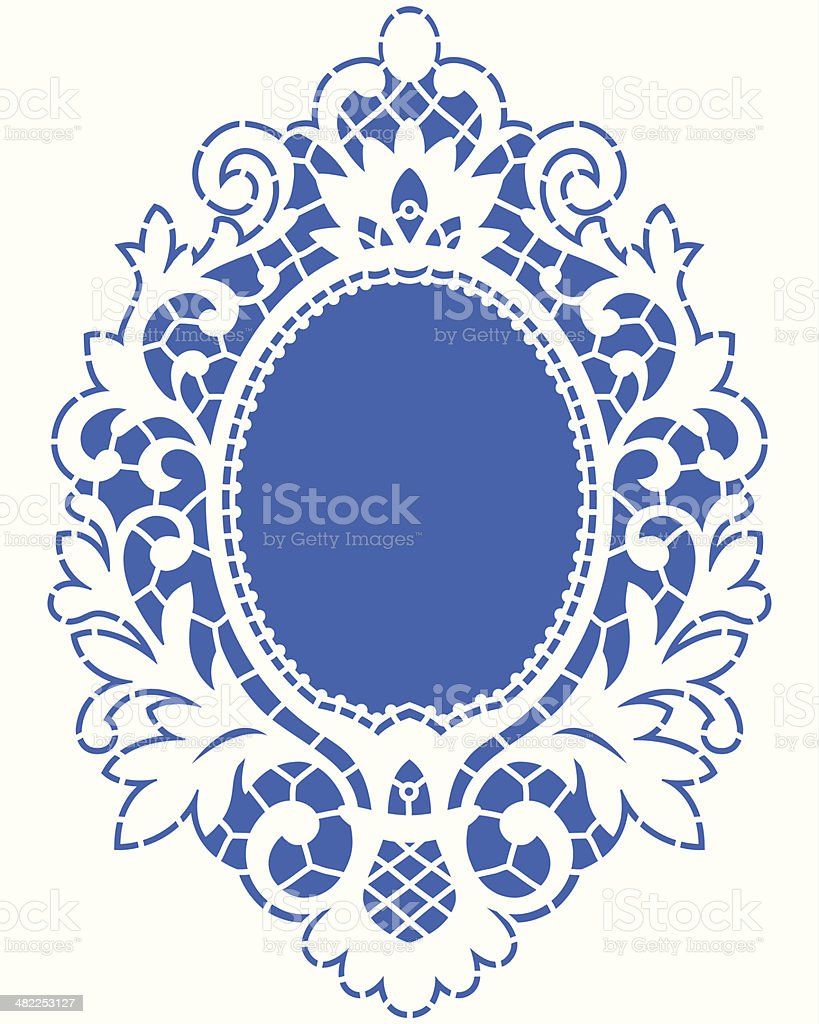 Card Lace Frame. vector art illustration