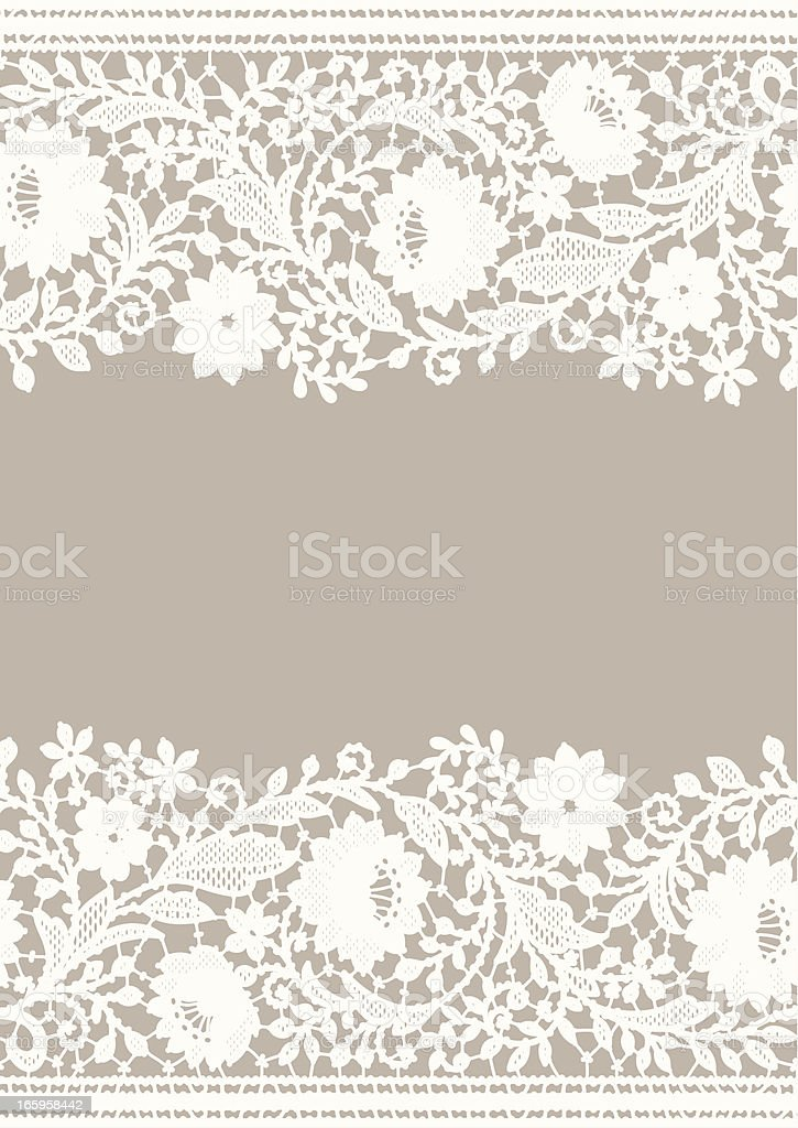 Card lace vector art illustration