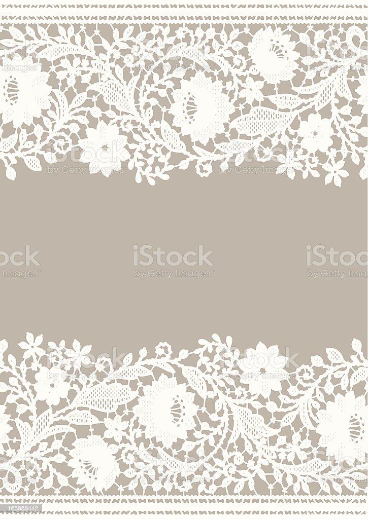 Card lace vector art illustration