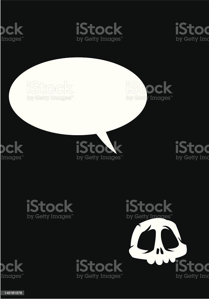Card skull royalty-free stock vector art
