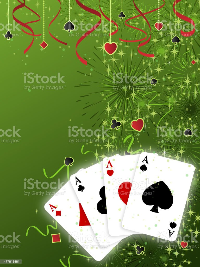 Card Suits Background royalty-free stock vector art
