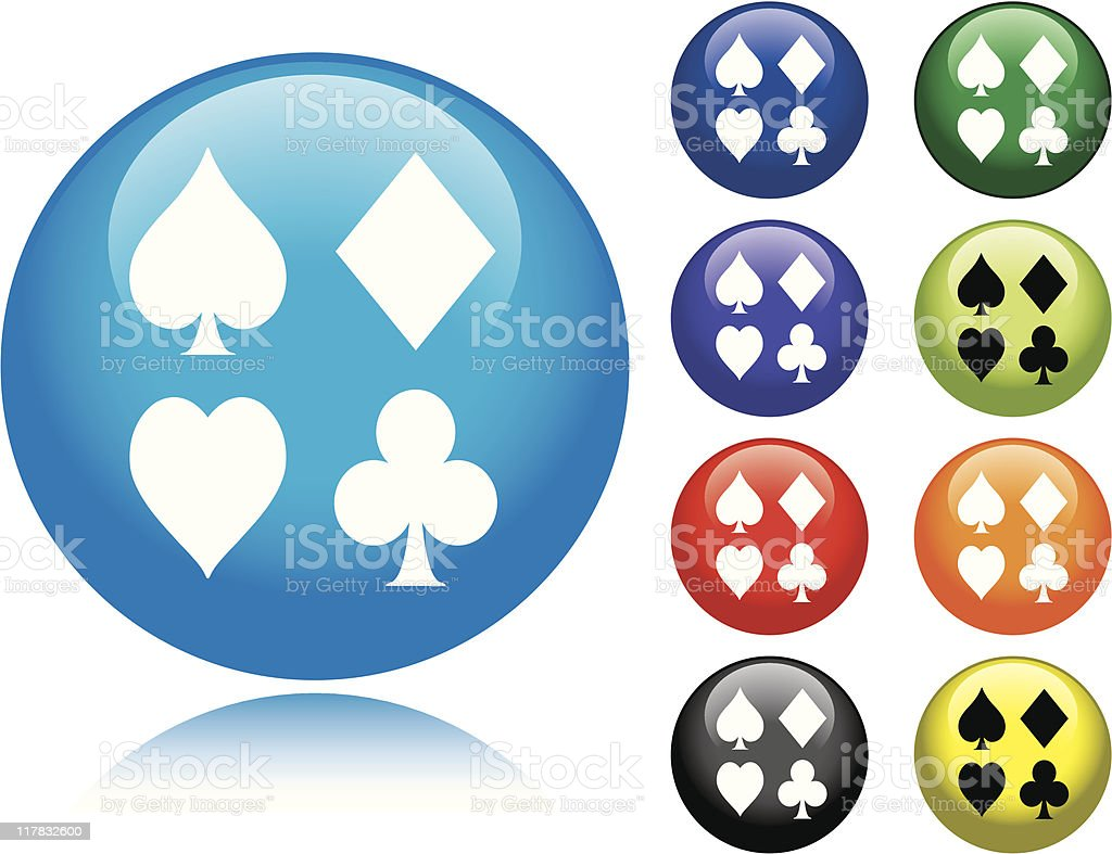 Card Suits Icon royalty-free stock vector art